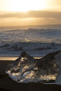 Block of Ice at Diamond Beach, Iceland, Sunrise by Niki Haselwanter