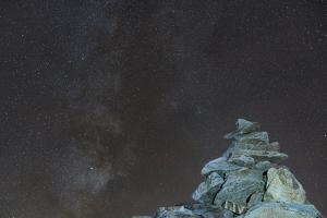 Cairn on Pirchkogel with Milky Way by Niki Haselwanter