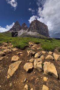 Dolomites, Sassolungo, Rock Formations by Niki Haselwanter