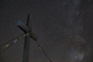 Gipfelkreuz of Pirchkogel with Galaxies Detail by Niki Haselwanter