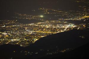 Innsbruck Seen at Night from Salfeins by Niki Haselwanter