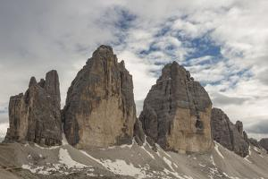 The Tre Cime Di Lavaredo with Clouds Sentiment by Niki Haselwanter