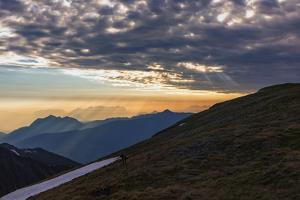 Zillertal Mountains with 'Godrays' in the Morning by Niki Haselwanter