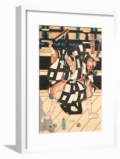 Nikki Danjo flüchtet in eine Ratte verwandelt mit der Verschwörerliste-Utagawa Kuniyoshi-Framed Giclee Print
