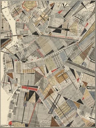 Modern Map of Brooklyn by Nikki Galapon