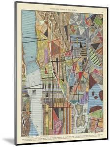 Modern Map of New York I by Nikki Galapon