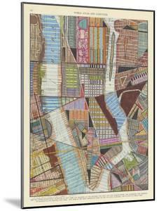 Modern Map of New York II by Nikki Galapon