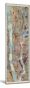 Modern Map of New York III by Nikki Galapon