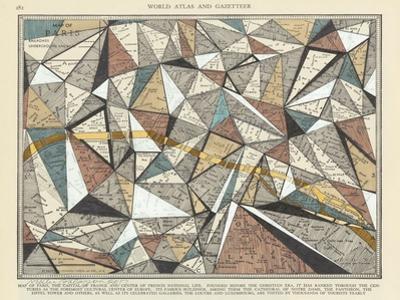 Modern Map of Paris by Nikki Galapon