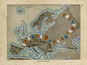 Relief Map of Europe by Nikki Galapon
