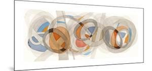Sepia & Orange Circles by Nikki Galapon