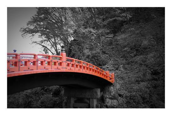 Nikko Red Bridge-NaxArt-Art Print