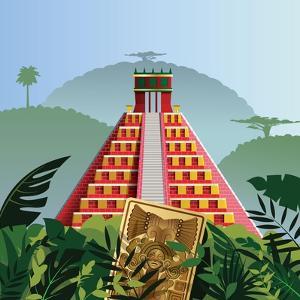 Acient Mayan Pyramid by Nikola Knezevic