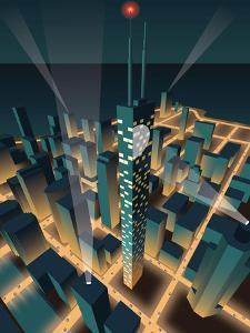 City at Night by Nikola Knezevic