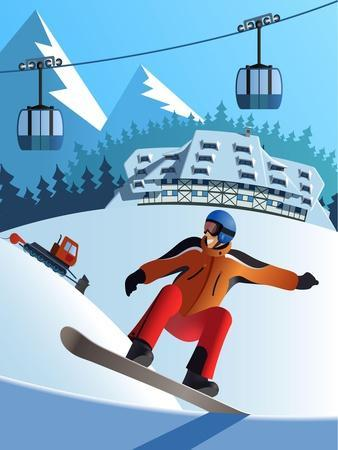 Snowboard Winter Resort