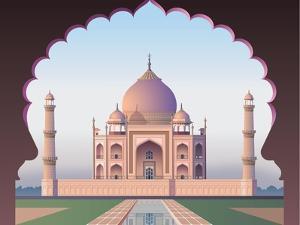 Taj Mahal through the Window by Nikola Knezevic