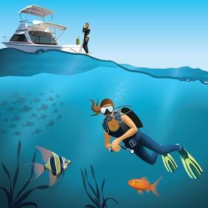 Underwater World and Diving Scene by Nikola Knezevic