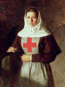 A Nurse, 1886 by Nikolai Aleksandrovich Yaroshenko