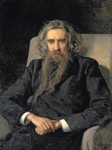 Portrait of Vladimir Sergeyevich Solovyov by Nikolai Aleksandrovich Yaroshenko