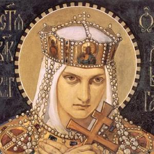 Saint Olga, Princess of Kiev, Second Half of the 19th C by Nikolai Alexandrovich Bruni