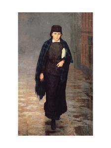 A Girl Student by Nikolai Alexandrovich Yaroshenko