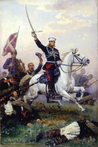 Russian General Mikhail Skobelev on Horseback by Nikolai Dmitrievich Dmitriev-Orenburgsky