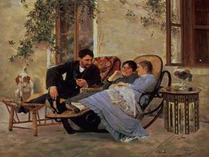 After Dinner, 1888 by Nikolai Dmitrievich Kuznetsov