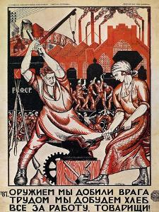 Russia: Soviet Poster, 1920 by Nikolai Kogout