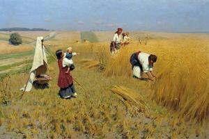 Harvest in Ukraine, 1886 by Nikolai Kornilovich Pimonenko
