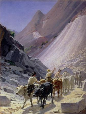Transporting Marble at Carrara, 1868