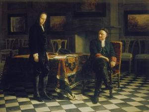 Peter I. Verhoert Den Zarewitsch Alexei Petrowitsch in Peterhof, 1871 by Nikolai Nikolajevitch Gay
