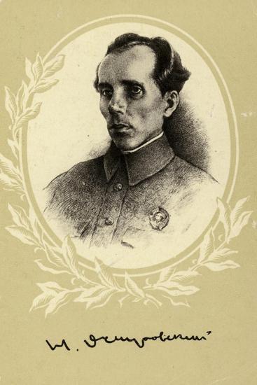 Nikolai Ostrovsky, Russian Author--Giclee Print