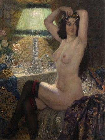 By the Green Lamp by Nikolai Petrovich Bogdanov-Belsky