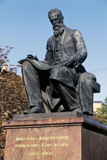 Nikolai Rimsky-Korsakov Statue--Giclee Print