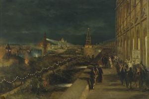 Illumination of Moscow on the Occasion of the Coronation of Emperor Alexander III by Nikolai Yegorovich Makovsky