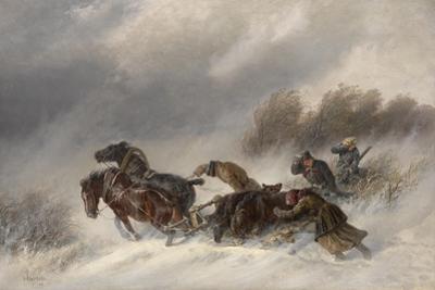 Returning from a Bear Hunt, 1881 by Nikolai Yegorovich Sverchkov