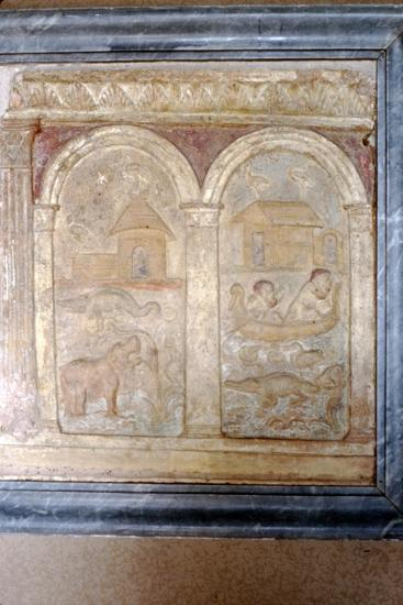 Nile animals on panel in the Vatican-Unknown-Giclee Print