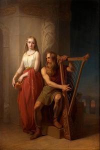 Idun and Bragi, 1846 by Nils Jakob Blommér