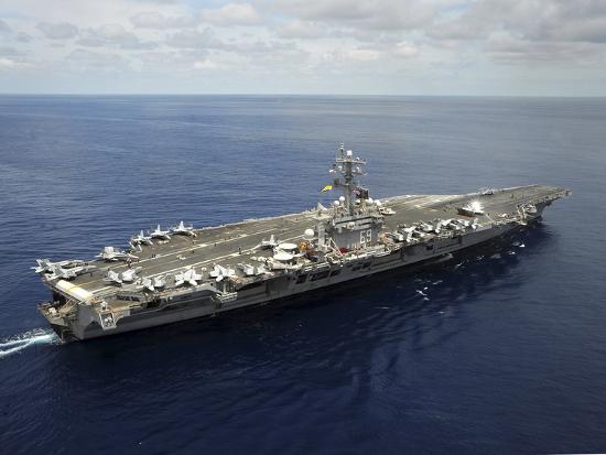 Nimitz-class Aircraft Carrier USS Dwight D. Eisenhower-Stocktrek Images-Photographic Print