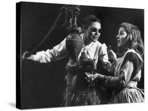 Actress Anne Bancroft and Patty Duke in Miracle Worker, a Play About Hellen Keller by Nina Leen