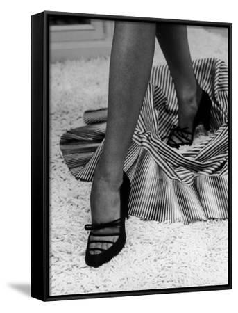 Artful Shot of Model Showing Off a Pair of High Heel Shoes