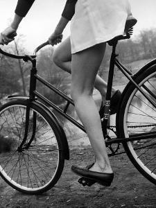 Bicycle Being Ridden by a Typical American Girl by Nina Leen