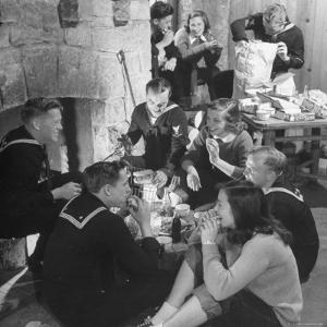 Boys from Navy Air Force Picnicking with College Girls by Nina Leen