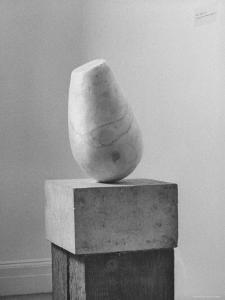 Brancusi Sculpture on Exhibit at the Guggenheim Museum by Nina Leen