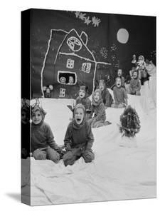 Children Dressed as Reindeer in Christmas Program at Elizabeth Morrow School by Nina Leen