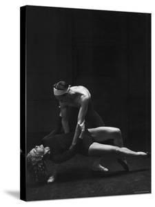 Dancer Valerie Bettis Rehearsing a Ballet Based on the William Faulkner Novel as I Lay Dying by Nina Leen