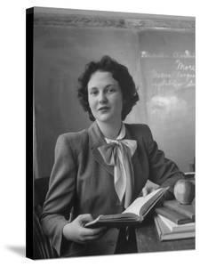 Elementary School Teacher Marjorie Llewellyn by Nina Leen