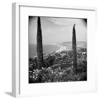 Garden Overlooking the California Pacific Coastline