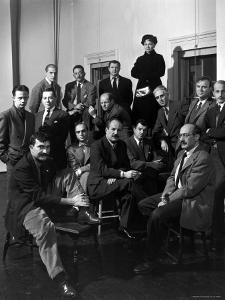 """Group Portrait of American Abstract Expressionists, """"The Irascibles"""" by Nina Leen"""