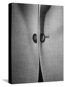 High Style in Men's Fashions, Extreme Styles for Men of College Age, Showing Link Buttons by Nina Leen